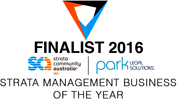 finalist strata management business 2016 logo